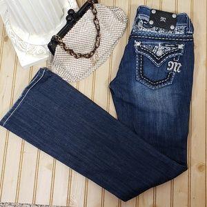 Miss Me 24x33 Easy Boot Jeans Embellished JE5733El
